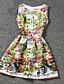 abordables Robes pour Filles-Robe Fille de Eté Polyester Jaune