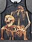 abordables Camisetas y Tops de Hombre-Hombre Deportes / Trabajo Tallas Grandes Estampado Camiseta Cráneos / Sin Mangas