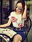 abordables Hauts pour Femmes-Rose Doll® Femme Col Arrondi Manche Courtes T-shirt Blanc-X15BTS096
