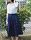 billige Nederdele-Kvinders Sødt Midi Nederdele Uelastisk Nylon