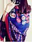 billige Modetørklæder-Damer Vintage Rektangulær,Bomuld Alle årstider Trykt mønster Mørkeblå