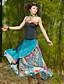 billige Nederdele-Kvinders Vintage Maxi Nederdele Uelastisk Bomuld / Rayon