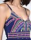 Naiset A-linja Mekko Boheemi Bile,Painettu Olkaimellinen Reisipituinen Hihaton Spandex Kesä Korkea vyötärö Mikrojoustava