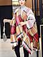お買い得  ファッションスカーフ-女性用 冬 秋 カジュアル ポリエステル 幾何学模様 長方形 レッド