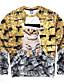 Heren Actief Casual/Dagelijks Sweatshirt 3D Print Ronde hals Micro-elastisch Polyester Lange mouw Herfst Winter