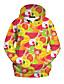 halpa Naisten hupparit ja neuleet-Naisten Rento/arki Huppari 3D Print Pyöreä kaula-aukko Puuvilla Joustamaton Pitkä hiha Kaikki vuodenajat