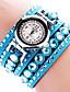 baratos Relógios da Moda-Mulheres Bracele Relógio Relógio de Pulso Quartzo Preta / Branco / Azul imitação de diamante Analógico senhoras Amuleto Brilhante Casual Boêmio - Marron Vermelho Rosa claro