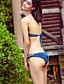 رخيصةأون ملابس السباحة والبيكيني 2017 للنساء-مايوه ستايل ثونج سادة - بيكيني مثلث أعلى الرقبة ضفائر الكروشيه للمرأة