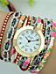 baratos Relógios da Moda-Mulheres Quartzo Bracele Relógio Venda imperdível PU Banda Flor Fashion Preta Branco Azul Vermelho Verde Rose
