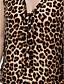 halpa T-paita-Naisten V kaula-aukko T-paita, Leopardi