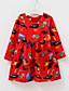 저렴한 여아 드레스-여자의 드레스 데이트 캐쥬얼/데일리 솔리드 플로럴,사계절 면 폴리에스테르 긴 소매