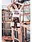 halpa Naisten yläosat-Naiset Lyhythihainen Pyöreä kaula-aukko Puuvilla Yksinkertainen Rento/arki T-paita,Yhtenäinen Painettu