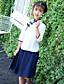 levne Sady oblečení-Dívčí Patchwork Sady oblečení, Bavlna Jaro Léto Podzim 3 / 4 rukávy Bílá Světlá růžová