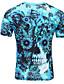 preiswerte Herren T-Shirts & Tank Tops-Herren Solide Gestreift Geometrisch Aktiv Ausgehen T-shirt,Hemdkragen Halbe Ärmel Baumwolle Leinen Polyester