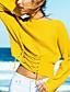 Damen Standard Pullover-Festtage Ausgehen Lässig/Alltäglich Sexy Einfach Street Schick Solide Rundhalsausschnitt Langarm Polyester