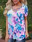 preiswerte T-Shirt-Damen Blumen T-shirt Baumwolle