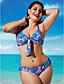 abordables Biquinis y Bañadores para Mujer-Mujer Relleno / Boho Halter Azul Marino Rojo Azul Real Bikini Bañadores XXXXL XXXXXL XXXXXXL