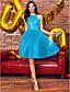 Balo Abiyesi Boyundan Bağlamalı Diz Boyu Dantelalar Tül Boncuklama Dantel ile Kokteyl Partisi Balo Elbise tarafından TS Couture®