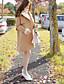 preiswerte Damenmäntel und Trenchcoats-Damen-Solide Street Schick Boho Arbeit Ausgehen Mantel