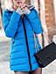 preiswerte Damen Daunenjacken & Parkas-Damen Daunenjacke Mantel Einfach Lässig/Alltäglich Solide-Baumwolle Polyester Baumwolle Langarm