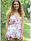 olcso Női kezeslábasok és overállok-Női Pamut Rugdalózók - Jacquardszövet, Virágos V-alakú