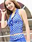 tanie Bikini i odzież kąpielowa 2017-Damskie Jednocześciowa - Jendolity kolor Dots, Polka Dots