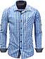 זול חולצות לגברים-Houndstooth סגנון רחוב כותנה, חולצה - בגדי ריקוד גברים דפוס
