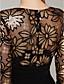 billige Aftenkjoler-Tube / kolonne Illusion Neckline Gulvlang Pailletter Jerseystof Skolebal / Formel aften / Militærbal Kjole med Paillette ved TS Couture®