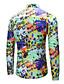 hesapli Erkek Gömlekleri-Erkek Gömlek Desen, Harf Temel Tropikal yaprak Yonca