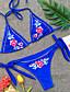 tanie Bikini i odzież kąpielowa 2017-Damskie Podstawowy / Boho Bandeau (opaska na biust) Bez ramiączek Bikini - Nadruk, Kwiaty Dół typu Cheeky