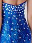 hesapli Gece Elbiseleri-Trompet / Deniz Kızı Kalp Yaka Süpürge / Fırça Kuyruk Tül Payetli Kristal Detaylar ile Resmi Akşam Elbise tarafından LAN TING Express