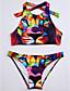 رخيصةأون ملابس السباحة والبيكيني 2017 للنساء-حيوان - ثلاثة قطع أعلى الرقبة زهري للمرأة