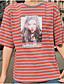 tanie T-shirt-T-shirt Damskie Podstawowy Prążki