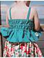 זול סטים של ביגוד לבנות-סט של בגדים ללא שרוולים פרחוני בנות ילדים / פעוטות