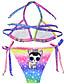 זול בגדי ים לבנות-בגדי ים ללא שרוולים דפוס פעיל בנות ילדים