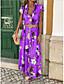 povoljno Maxi haljine-Žene Pamuk Slim Korice Haljina V izrez Maxi
