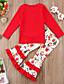 זול סטים של ביגוד לבנות-סט של בגדים כותנה שרוול ארוך דפוס פעיל / בסיסי בנות ילדים / פעוטות