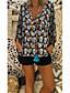 billige T-skjorter til damer-T-skjorte Dame - Hodeskaller, Trykt mønster Gatemote Svart