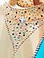 povoljno Klizačke haljine-Haljina za klizanje Žene Djevojčice Korcsolyázás Haljine Plava Spandex Stretch Yarn Visoka elastičnost Natjecanje Odjeća za klizanje Ručno izrađen Isklesan Moda Bez rukávů Klizanje na ledu Zimski