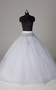 Bruiloft Speciale gelegenheden Feest / Uitgaan Onderjurken Nylon Tule Vloerlengte Baljurk Slip Klassiek & Tijdloos met