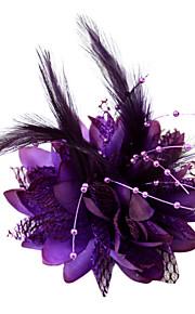 Cristal Plume Tissu Coton Diadèmes Fascinators Fleurs 1 Mariage Occasion spéciale Fête / Soirée Casque
