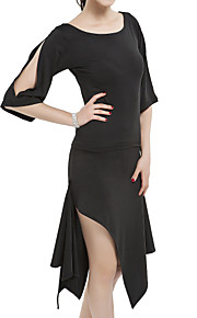 Latin Dance Outfits Women's Training Polyester Half Sleeves Natural