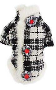 Σκύλος Παλτά Ρούχα για σκύλους Καρό   Τετραγωνισμένο Μαύρο   Άσπρο Βαμβάκι  Στολές Για κατοικίδια Ανδρικά aa8be8ab8e5