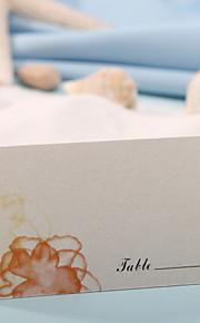 Place Card - Orange Flower Print (Set of 12) Wedding Reception