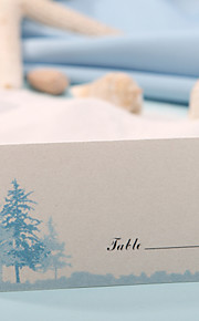 Place Card - Blue Tree (Set of 12) Placecard Holders Wedding Reception