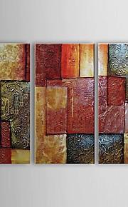 Ручная роспись Абстракция Горизонтальная холст Hang-роспись маслом Украшение дома 3 панели