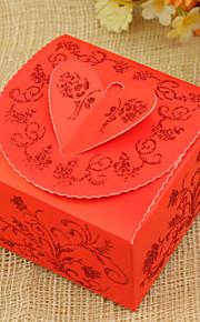 Rectangulaire Papier durci Titulaire de Faveur avec Ruban Boîtes à cadeaux