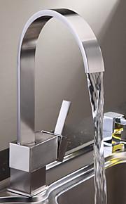 кухонный смеситель - Современный Матовый никель Высокий / High Arc Настольная установка / Одной ручкой одно отверстие