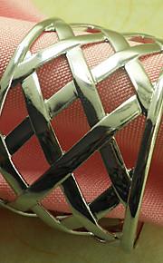 Metal Redondo Anillo de Servilletas Estampado Ecológica Decoraciones de mesa