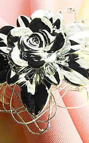 Metaal Rond Servetring Met Patroon Milieuvriendelijk Tafeldecoratie